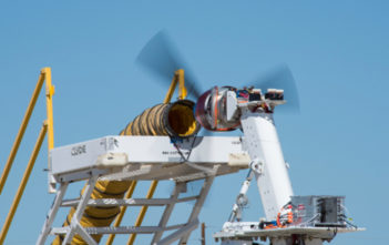 Rotor on test stand