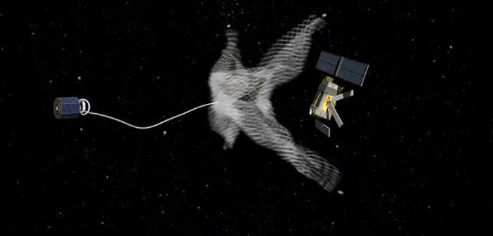 Space harpoon successfully tested in orbit