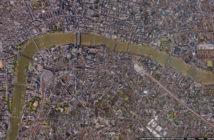 Google image map of London