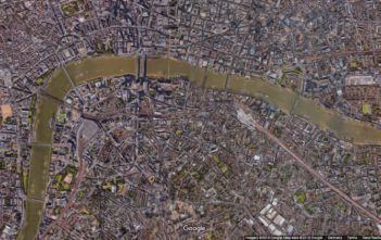 Google image map of London