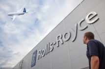 787 and rolls-royce logo and employee