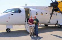 Captain Peter Weger with D328 flight test pilot colleague Captain Conny Cornelius