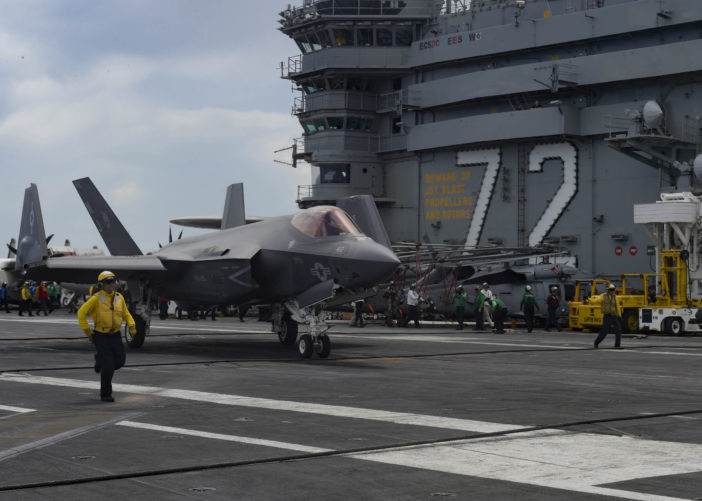 US Navy tests F-35C from USS Abraham Lincoln   Aerospace
