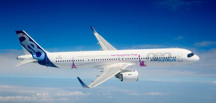 A321LR in flight