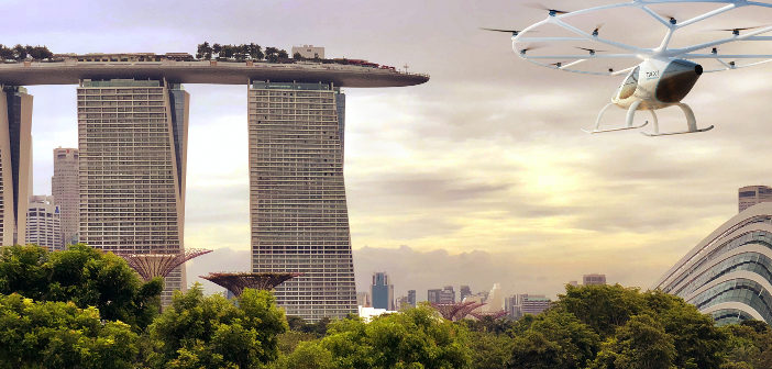 Volocopter to flight test air taxi in Singapore