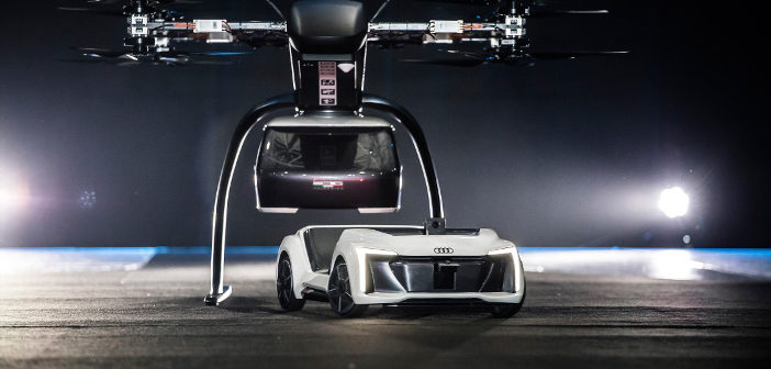 Drone car flying taxi