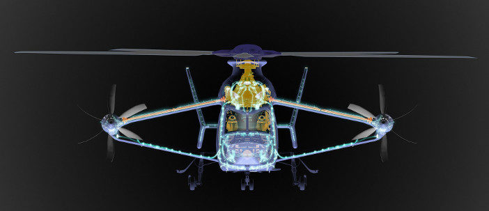 Racer helicopter scan