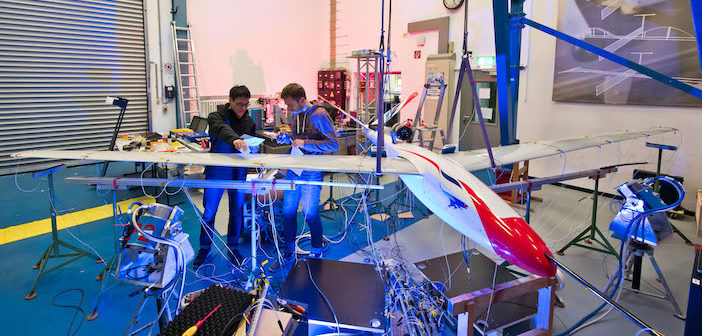 Improved wings for more fuel-efficient aircraft pass vibration testing