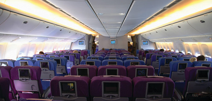 interior photo of an aircraft