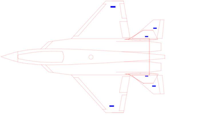 Sensors on an aircraft