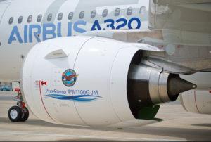 Pratt & Whitney's PW1100G engine powers the A320neo