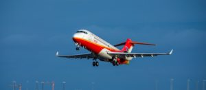 Comac's ARJ21 is a twin-engined regional jet that has recently been tested with a redesigned flight deck