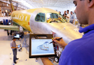 Embraer engineers are using the latest digital technology to test and develop its aircraft