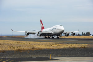 The Qantas 747 arrived at Moses Lake, USA in October and is now under AeroTEC's care, custody and control
