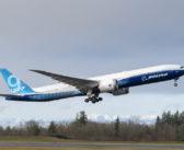 Boeing 777X testing program history