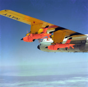 The DC-130 was modified to launch target drones, in this case the BQM-34S Firebee (Photo: PHCS RL Lawson/US Navy)