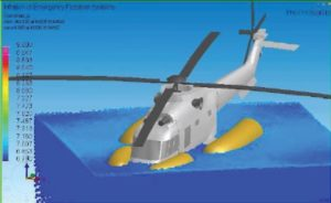 Scenarios considered by the SARAH project have included helicopters with rigid floats that inflate if the aircraft ditches