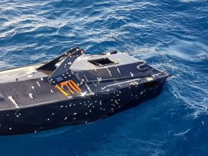 The QTS Hammerhead USV-T may be operated in swarms of up to 40 targets (Photo: QTS)
