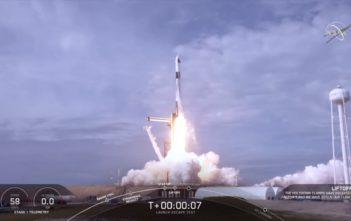 SpaceX launch escape test
