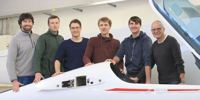 the Alexander Schleicher Segelflugzeugbau design team