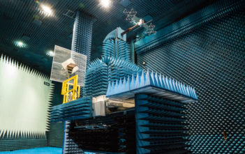 The antennae for the JUICE mission to Mars under test in the Hertz chamber at Noordwijk in Holland (Image: ESA)