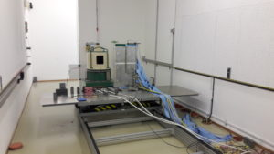 Radiation testing at the Light Ion Facility at University College Louvain in Belgium
