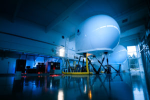 TRU's Level D full flight simulator has dual motion systems to provide greater realism during simulations