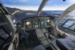 TRU's Bell 525 full flight simulator uses components from the actual aircraft