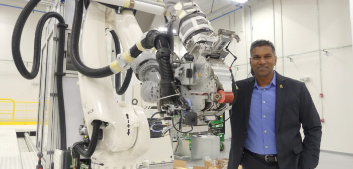 Waruna Seneviratne, director of the Advanced Technologies Lab for Aerospace Systems at the National Institute for Aviation Research at Wichita State University
