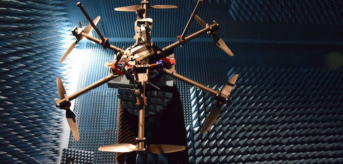 drone in anechoic chamber