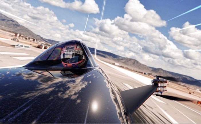 Airspeeder in a race
