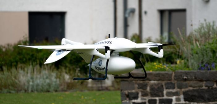 Coronavirus: Thales and Skyports conduct drone delivery trial in Scotland