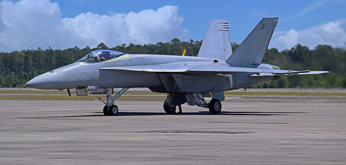 Super Hornet test aircraft