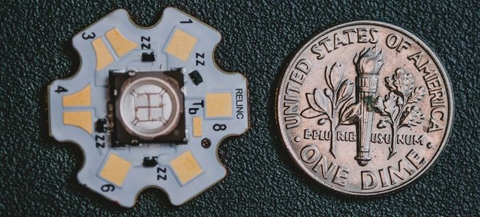 LEDs enable smaller and lighter LED lamps