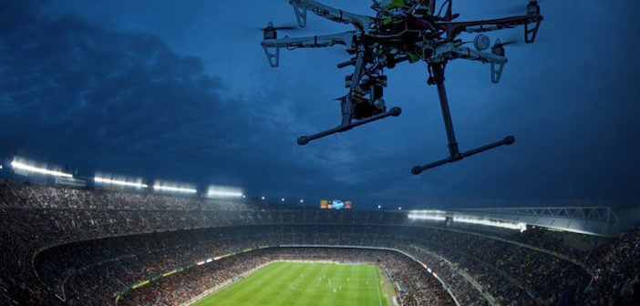 drone over stadium