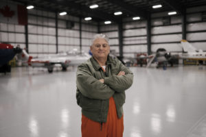 Giorgio Clementi, president of the School, has 34 years of flying experience, 20 of which have been in flight testing