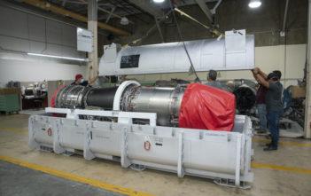 The F414-GE-100 engine unload
