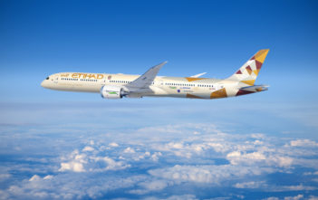 An Etihad Airways 787-10 Dreamliner decked out with special equipment that can enhance safety and reduce CO2 emissions and noise has commenced flight testing this week for Boeing's ecoDemonstrator program