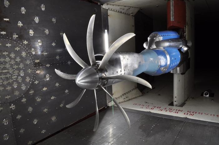 propeller under test