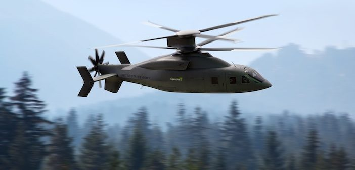 Defiant X helicopter