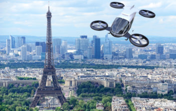 drone over paris