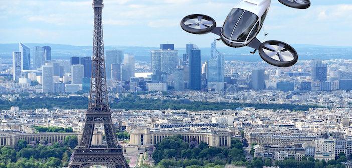 drone over paris