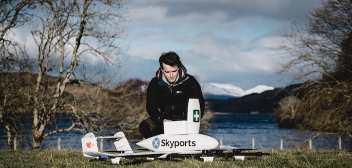 Successful medical drone delivery trial in Scotland expanded