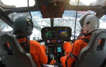 SH09 helicopter during flight
