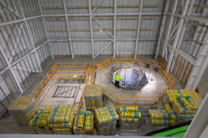 More than 1500mᶟ of earth was removed from the NSTF site so that the foundations and the suspension system for the vibration equipment could be built
