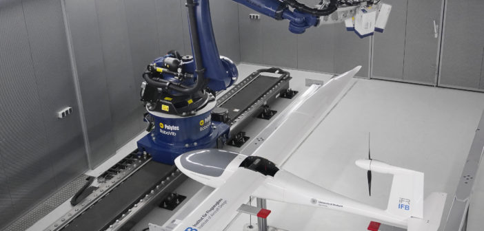 Glider EGenius in RoboVib lab for modal test