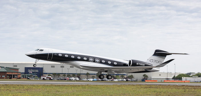 Fully-outfitted Gulfstream G700 takes to the skies to flight test cabin