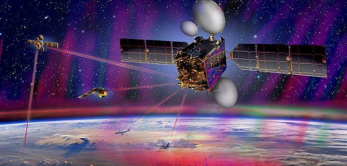 Communications satellites in orbit