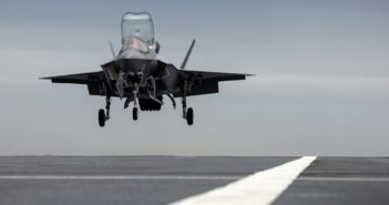 First F-35 Lightning lands on UK aircraft carrier HMS Prince of Wales