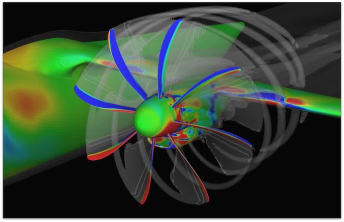 CAD image of propeller
